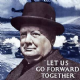 Churchill Lets Go Forward Together drinks mat / coaster    (hb)
